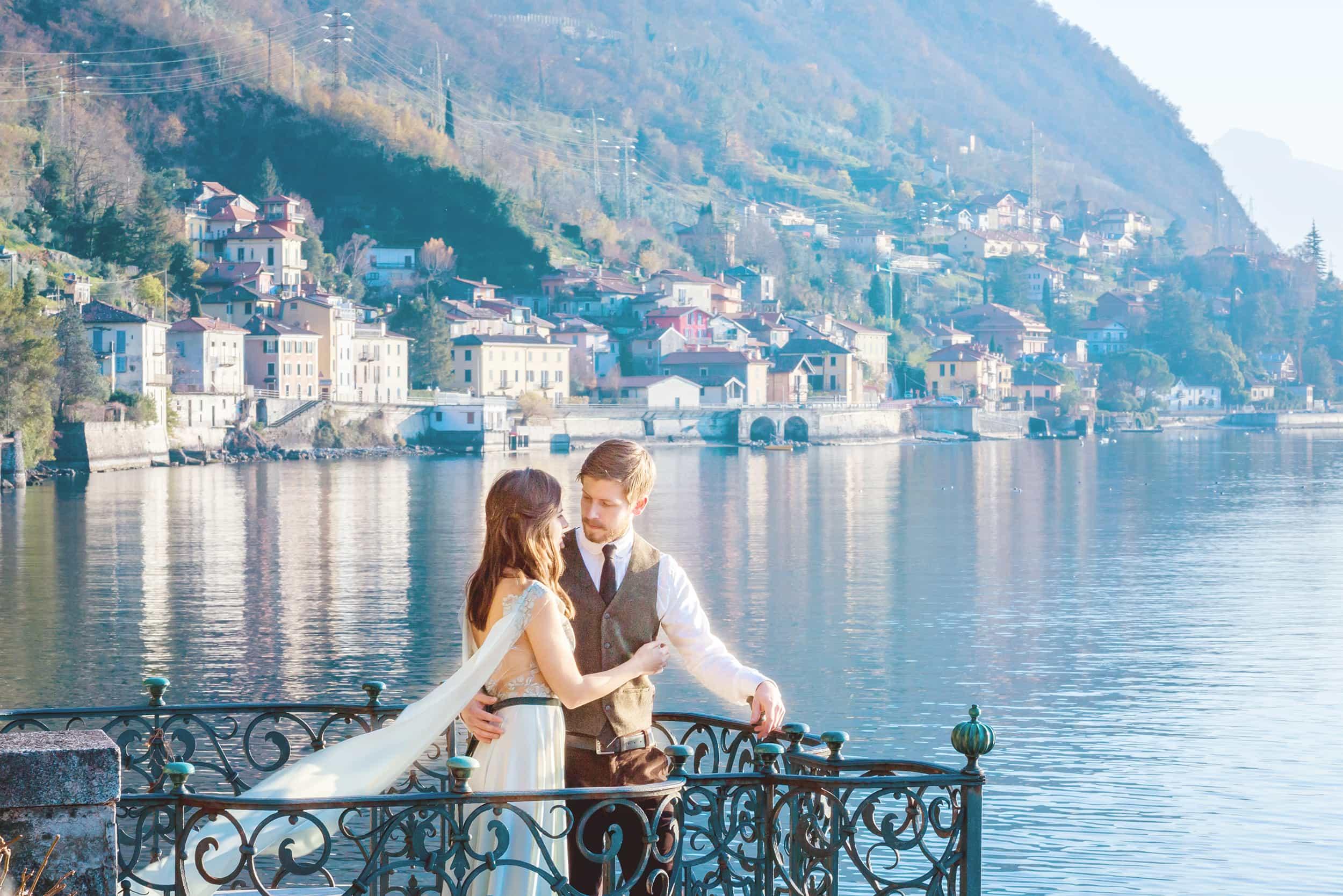 After Wedding Shooting Como, Hochzeitsfotograf Lago Maggiore, Elopement Hochzeit in Italien