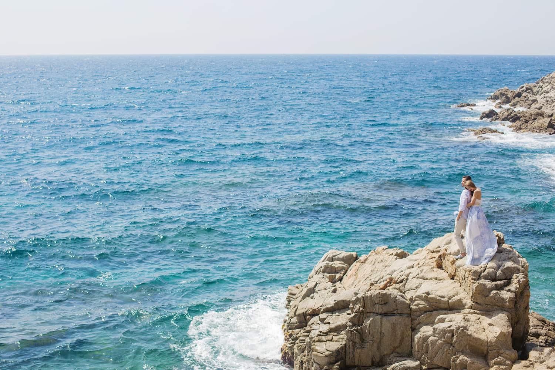 Destinationwedding Barcelona, Heiraten zu zweit am Strand in Spanien, Elopement Hochzeit Costa Brava