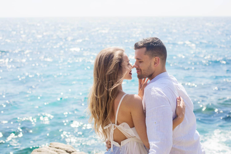 hochzeitsfotograf Frankfurt, Brautpaarshooting an der Costa Brava, heiraten zu zweit in Spanien