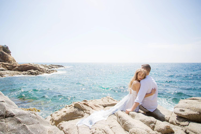 Destinationweddingphotographer Barcelona, Afterwedding in Spain, elopement Costa Brava