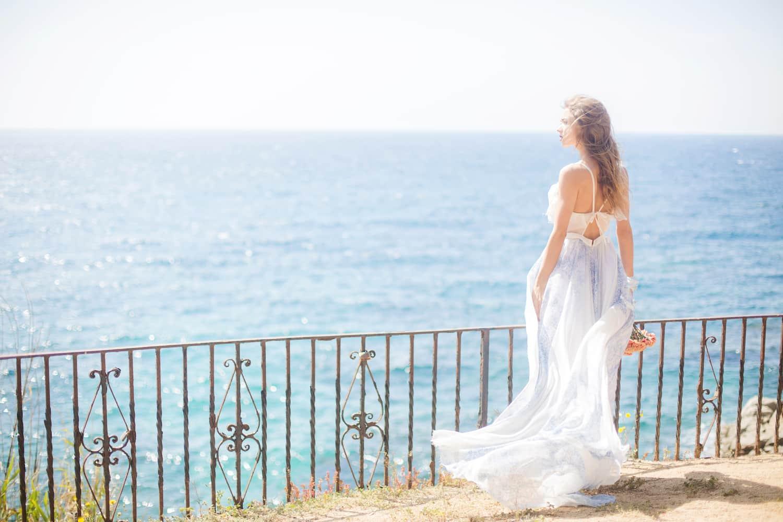 Brautmode Frankfurt, Hochzeitsvorbereitungen in Barcelona, Hochzeit zu Zweit am Meer