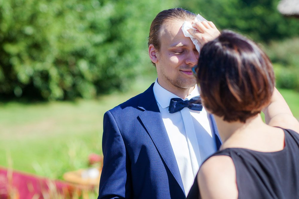 Hochzeitfotografin mit Charleen und Erik bei der Hochzeitsreportage in Berlin