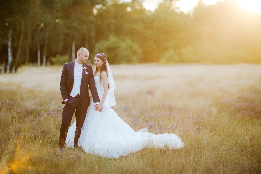 Romantisches Brautpaarshooting Bremen, Hochzeitsfotos Hannover