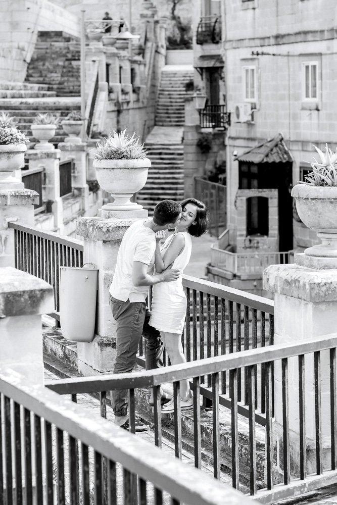 Kennenlernshooting Malta, Verlobung in Valletta, Hochzeitsfotograf Gozo