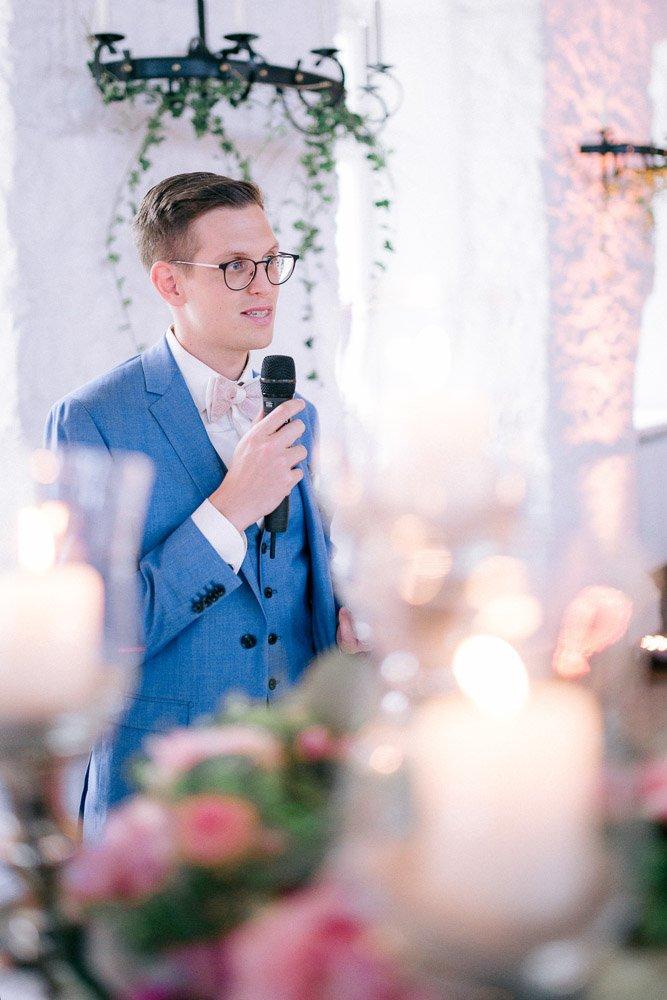 Dankesrede des Bräutigams an seine Gäste, Banquet im Schloss Johannisberg, Hochzeitsmenü