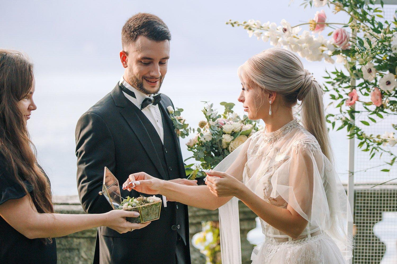 Hochzeitsfotograf Italien, freie Trauung am Comer See, Elopement Hochzeit Villa Balbianello