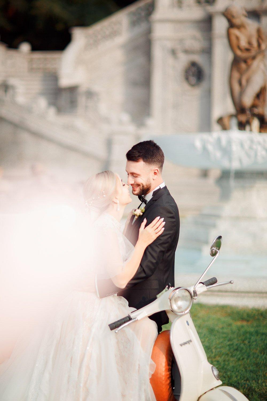Vespa mieten am Comer See, Hochzeitsvorbereitungen Italien, Heiraten zu Zweit in Tremezzo