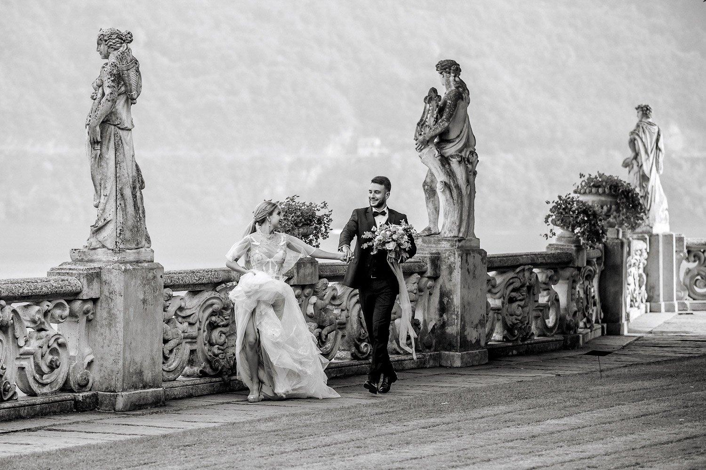 Hochzeitsfotograf Villa Erba in Italien, Freie Trauung in Villa Balbianello, Destinationwedding Lake Como