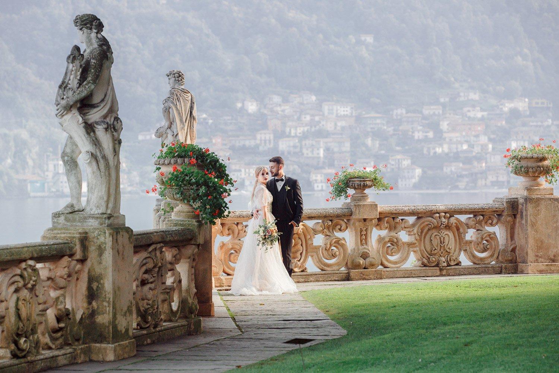 Hochzeitsreportage in Villa Balbianello, Hochzeitsfotograf Italien, Hochzeitsinspiration fürs heiraten am Comer See