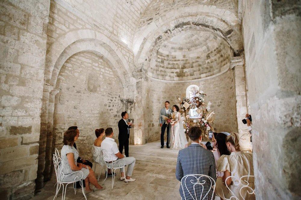 Hochzeitsfeier in einem Weingut in Toskana