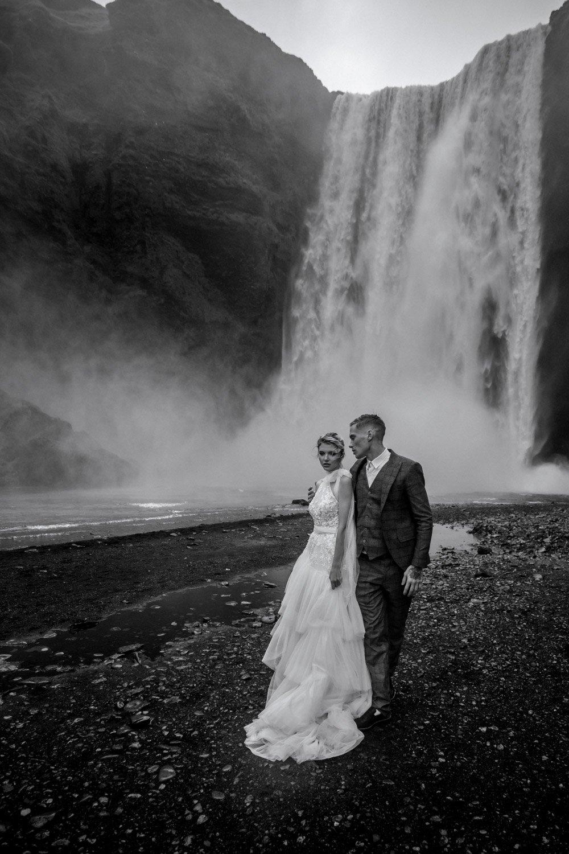 Wedding Photographer Iceland, Marriage Skogafoss Waterfall