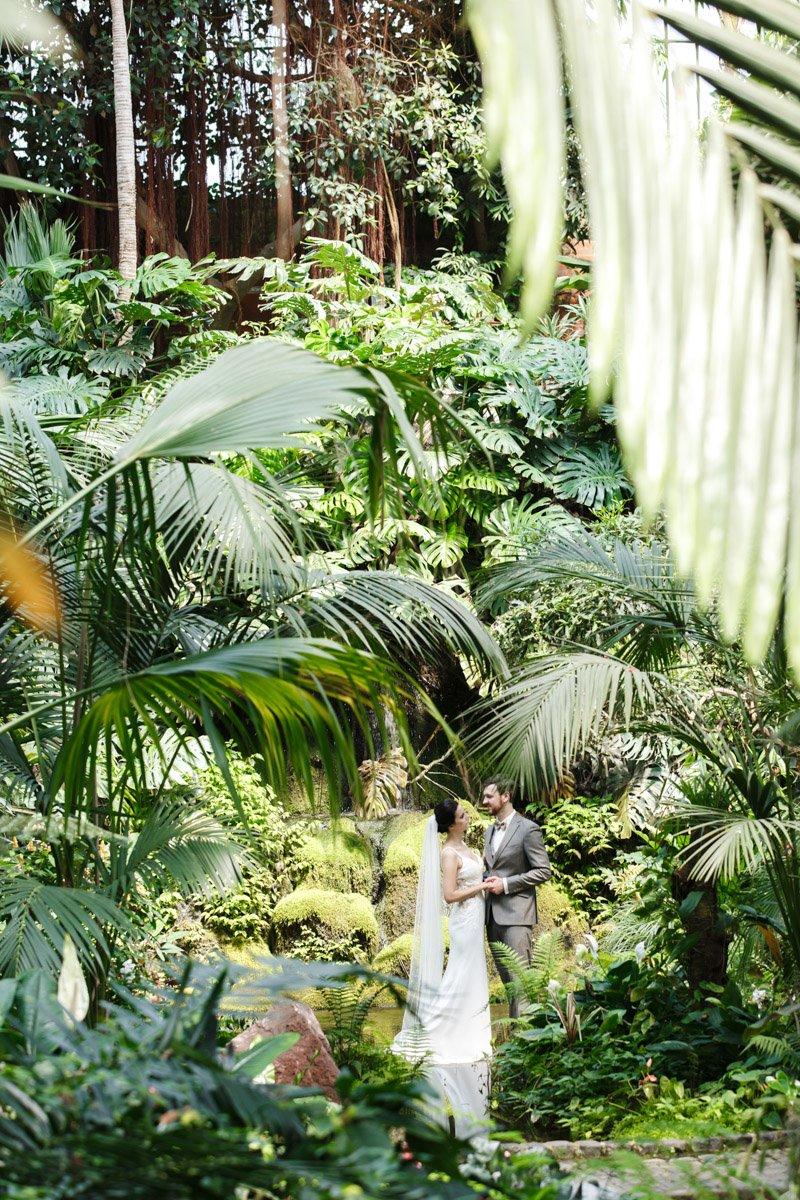 Standesamtliche Hochzeit im Palmengarten mit anschliessendem Brautpaarshooting