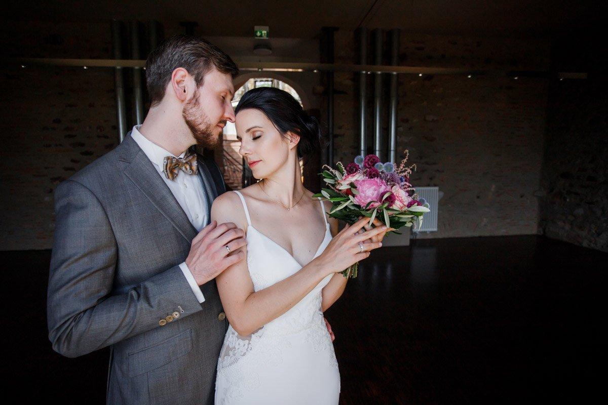 Hochzeitsfotograf Eltville am Rhein, Brautpaarshooting auf Schloss Platte bei Wiesbaden