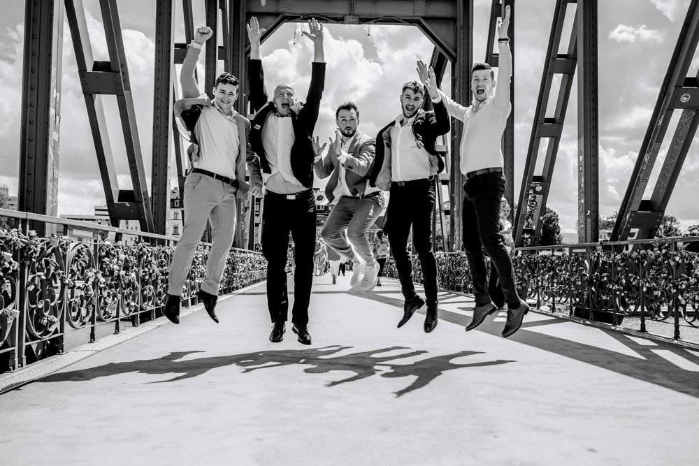 Hochzeitsfotos am Eisernen Steg, Fotograf Frankfurt, Hochzeit feiern ausserhalb München