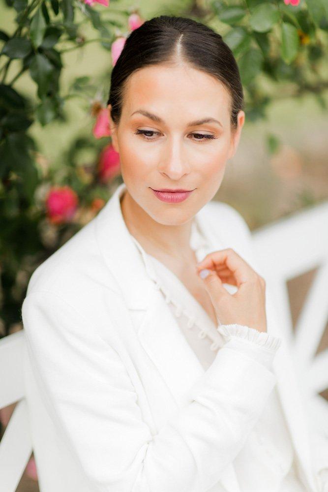 Portrait einer Braut in Frankfurt, Hochzeitsreportage Palmengarten, Fotograf für Hochzeit München